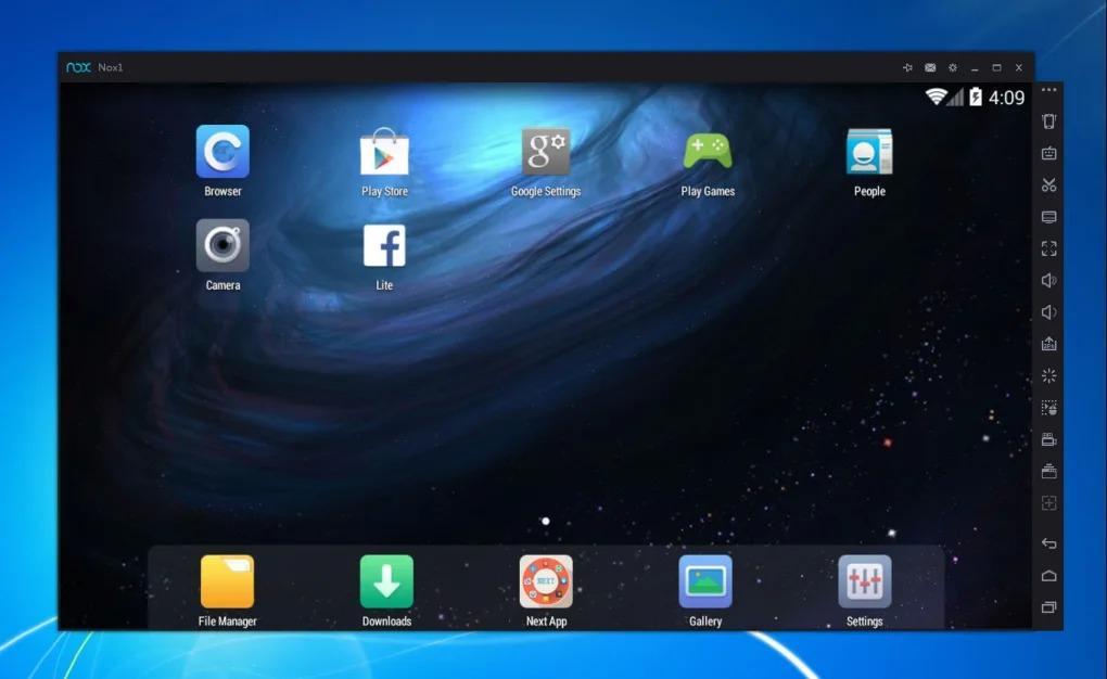 Aplicación Nox para Mac que ejecuta Android