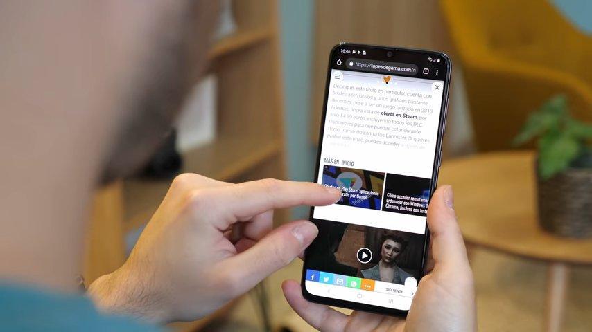 Samsung Galaxy A70 pantalla