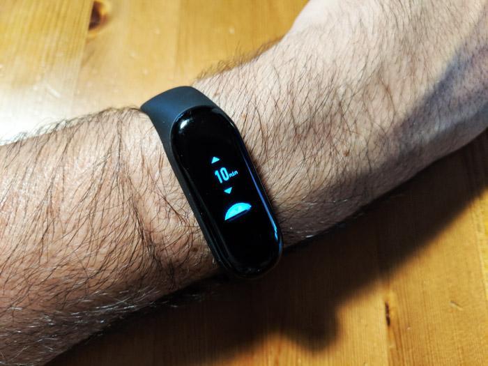 Uso del temporizador en Xiaomi Mi Band 3