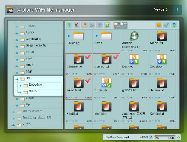 Aplicación X-plore File Manager
