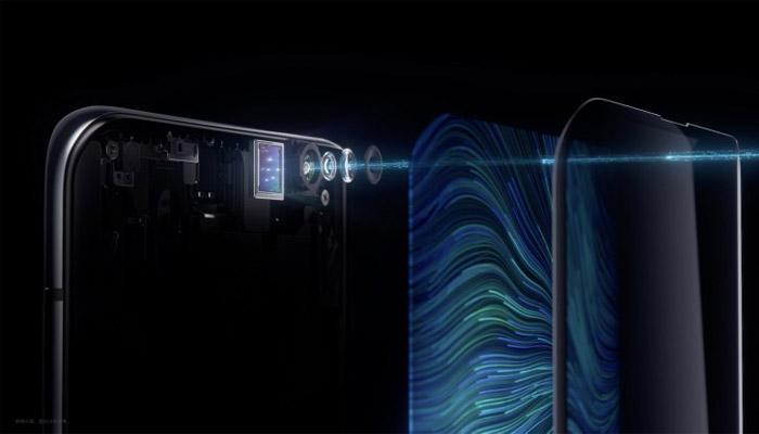 Estructura cámara bajo pantalla de OPPO