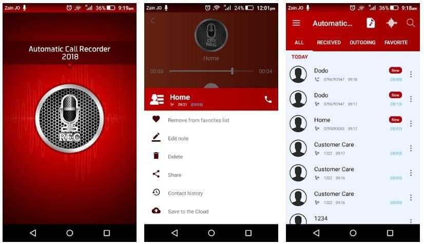 Aplicación Automatic Call Recorder Pro 2019