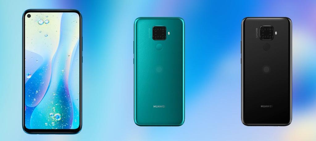 Huawei Mate 30 Lite por detrás y por delante