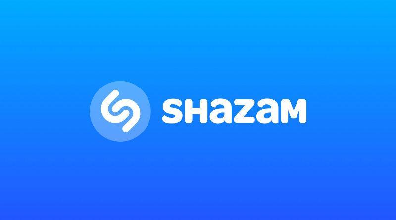 Logotipo de Shazam con fondo azul