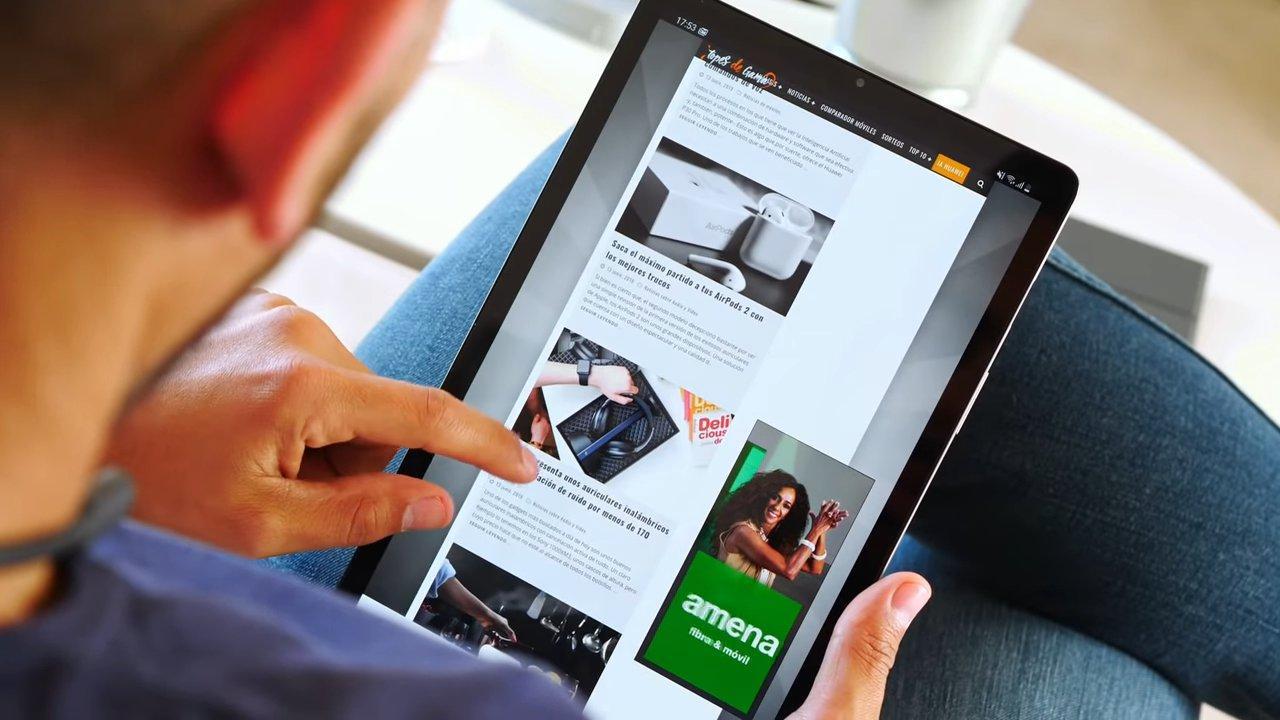 Uso de tablet de Samsung