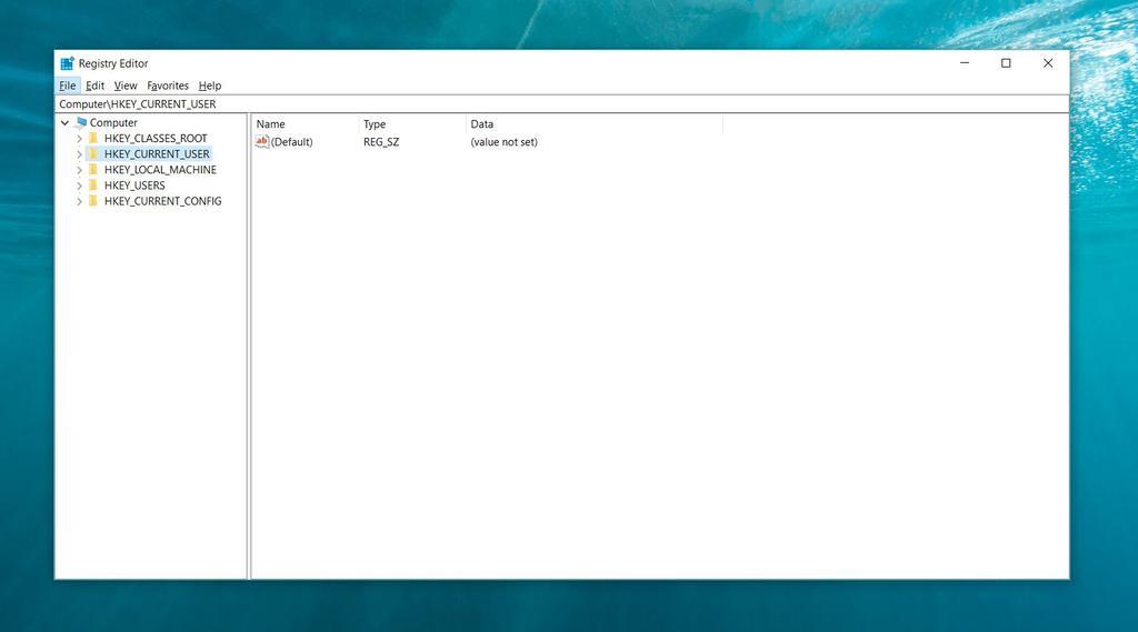 Registro de Windows 10