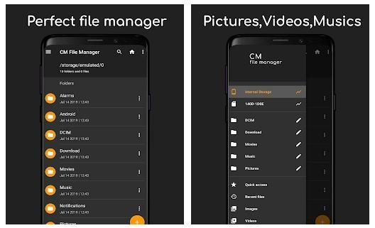 Aplicación Gestor de archivos CM