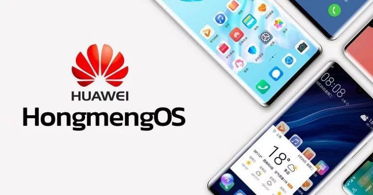 Logotipo Huawei con sistema operativo HongMeng OS