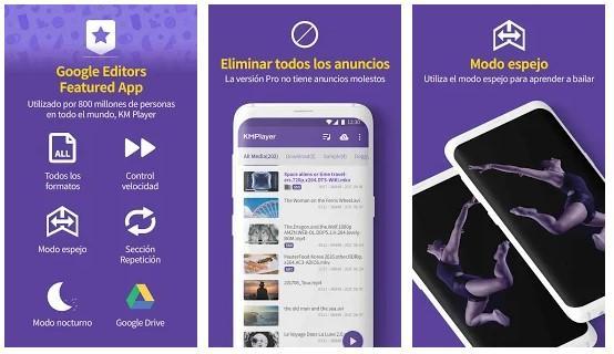 Aplicación KM Player