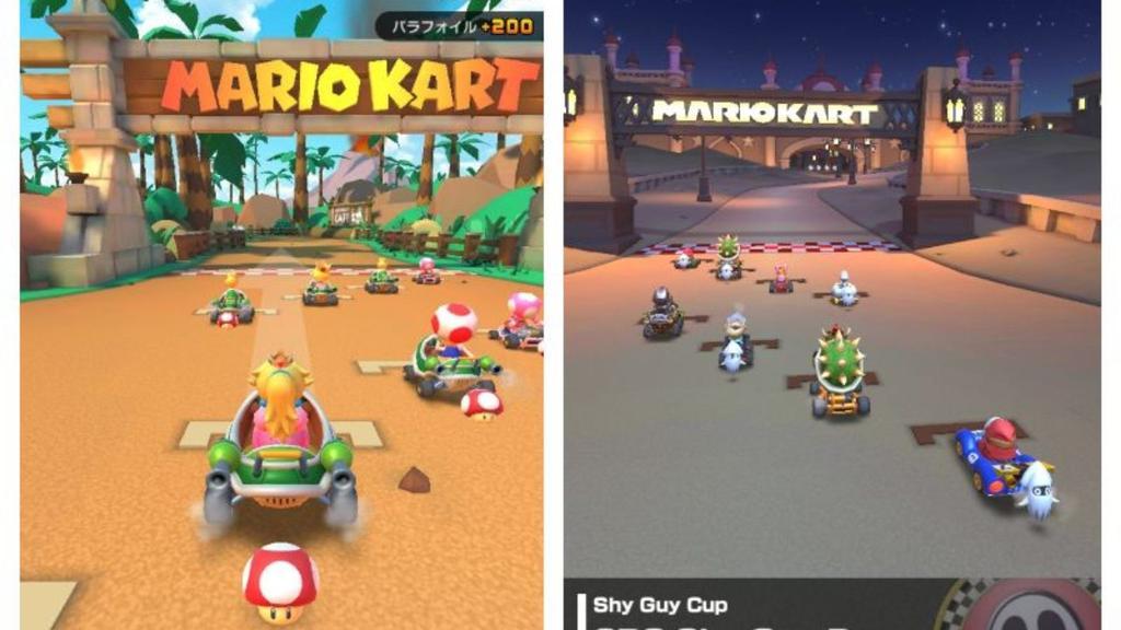 Juego para móviles Mario Kart Tour