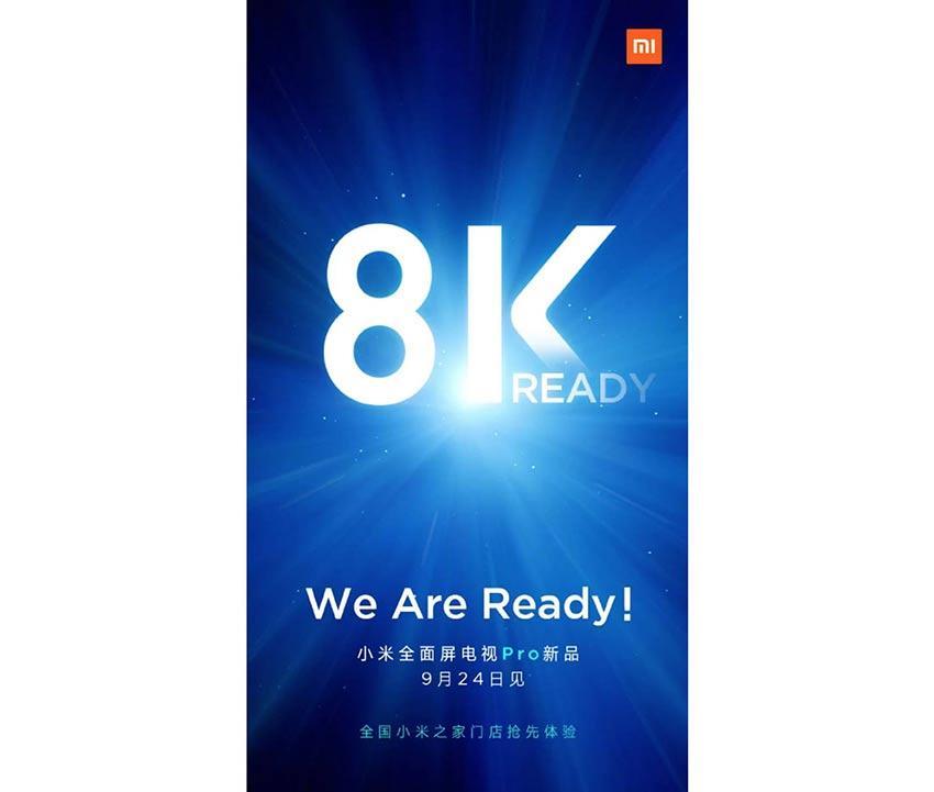 Anuncio Xiaomi 8K 24 septiembre