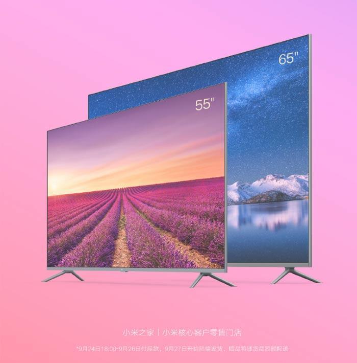 Anuncio tamaños de pantalla televisores Xiaomi 8K