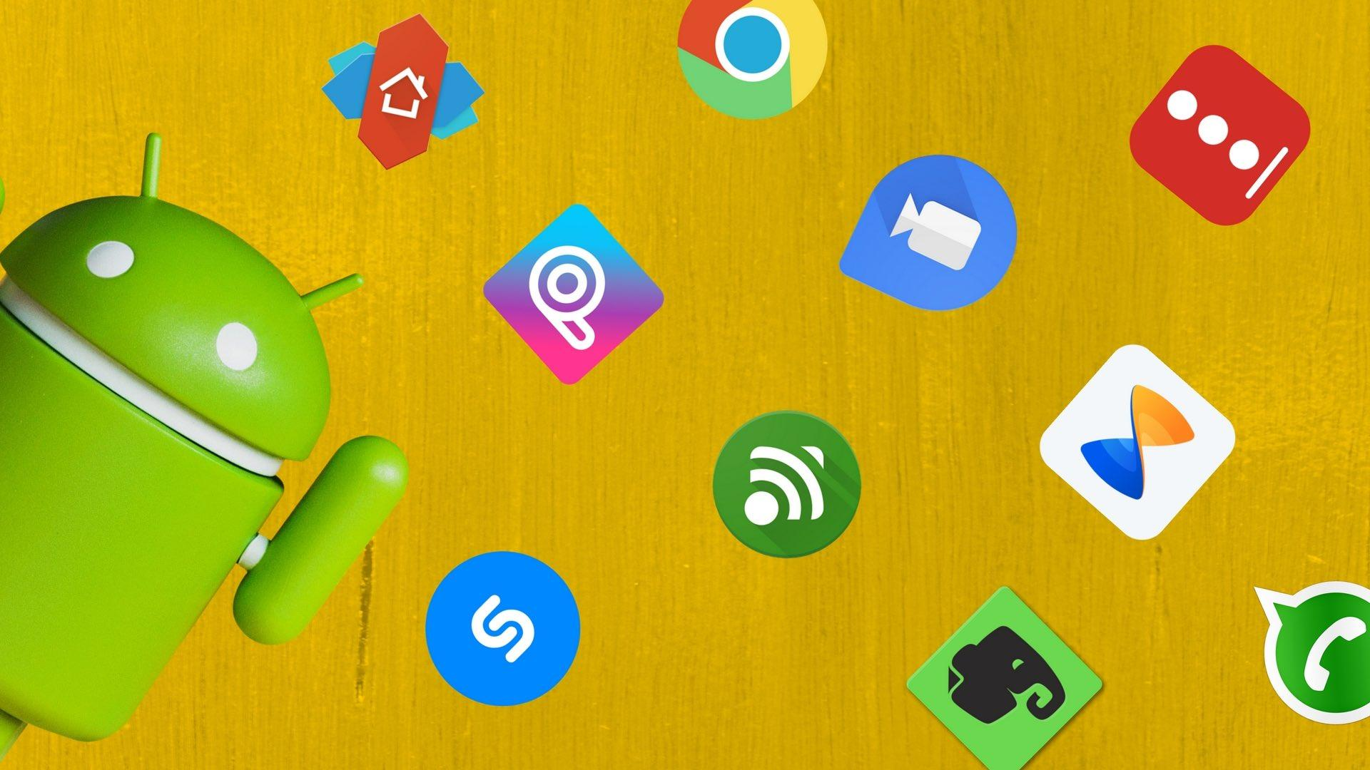 Aplicaciones Android con fondo amarillo