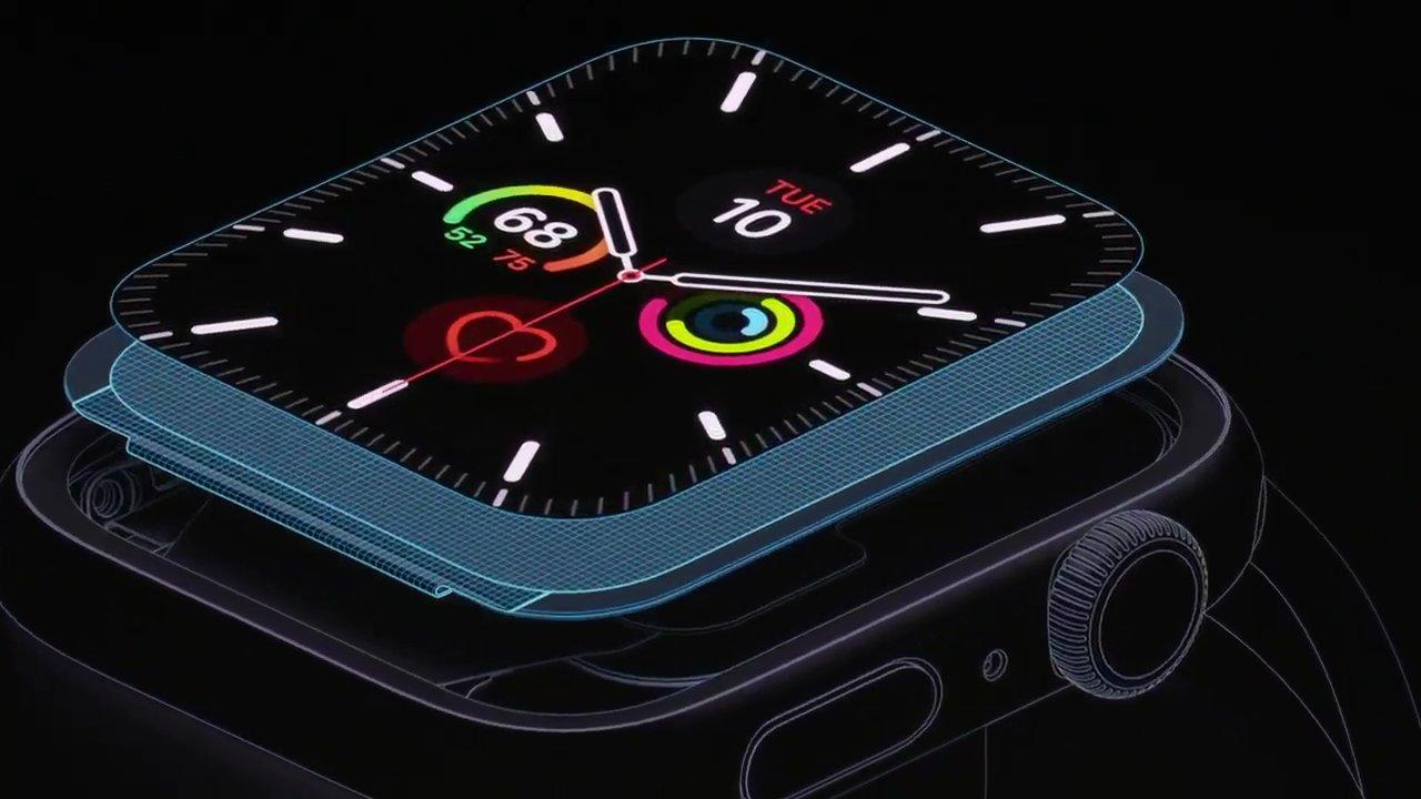 Pantalla del Apple Watch series 5