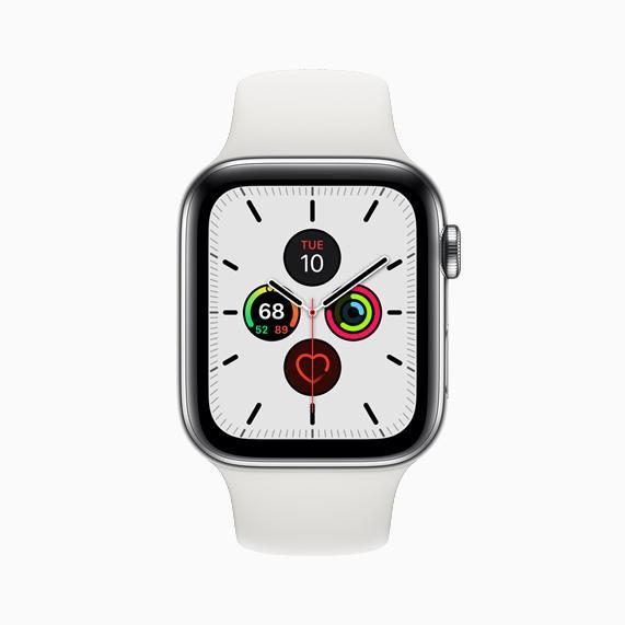 Imagen frontal de Apple Watch series 5