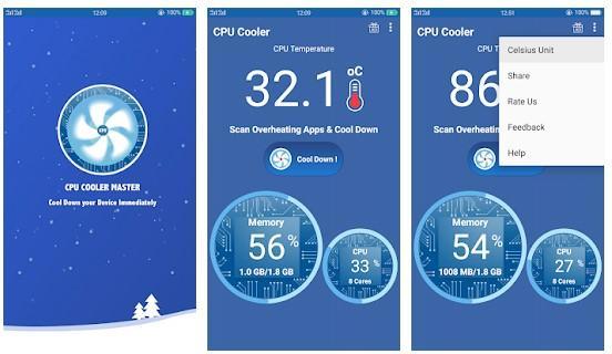 Aplicación CPU Cooler Pro