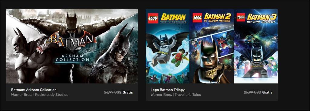 Batman Arkham y Batman Lego gratis