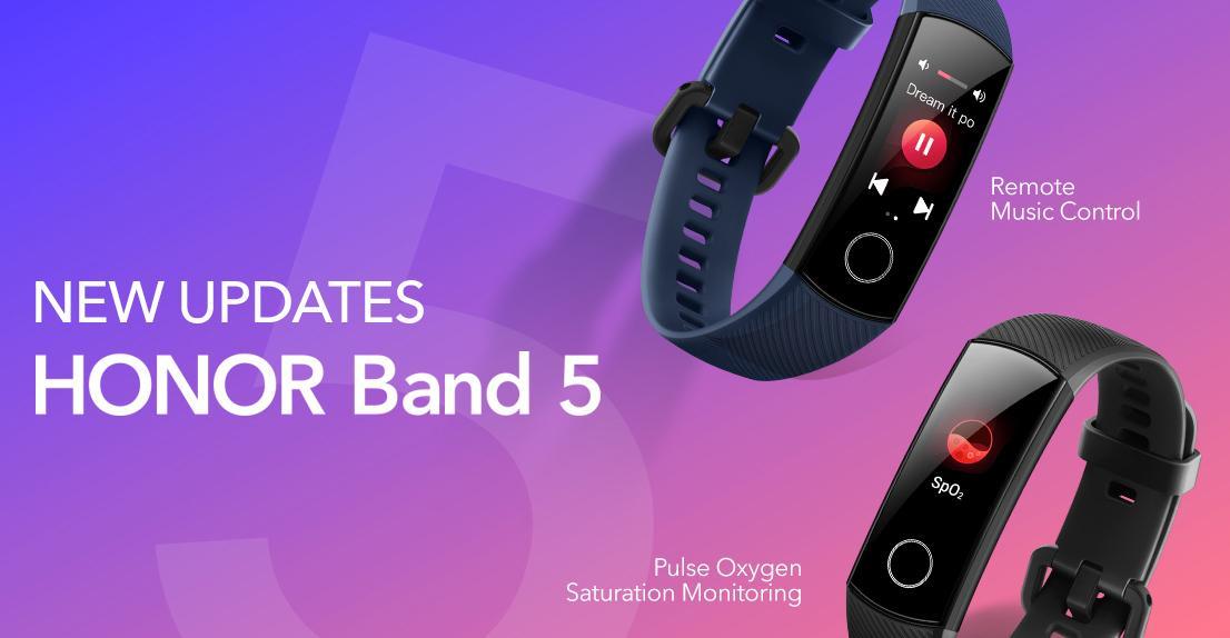 Honor Band 5 control volumen y música