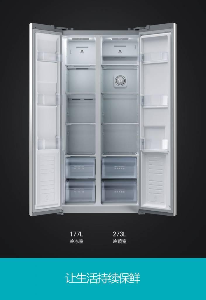 nevera inteligente Xiaomi Yunmi 21Face por dentro