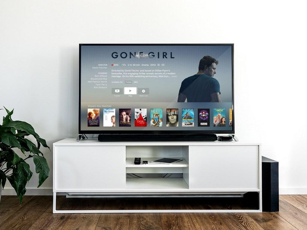 Imagen Smart TV en mueble