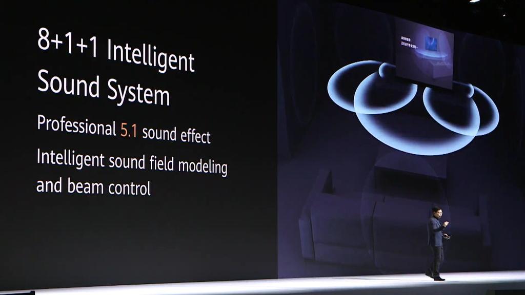 Sistema de sonido de la Smart TV Huawei Vision