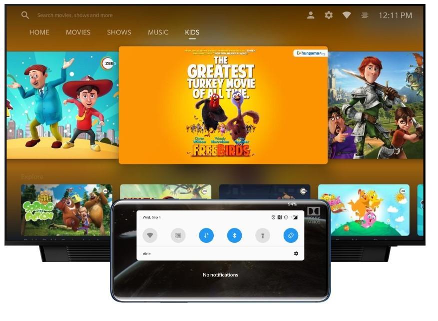 Uso OnePlus TV con smartphone