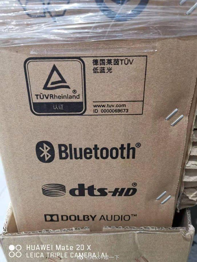 Características de Smart TV Huawei en caja