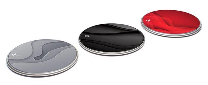 También disponibles en diferentes colores as bases de carga de Qi Lamp