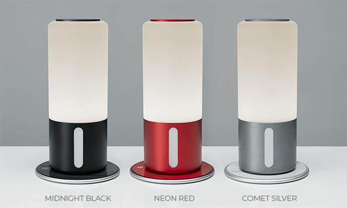 La Qi Lamp está disponible en diferentes colores