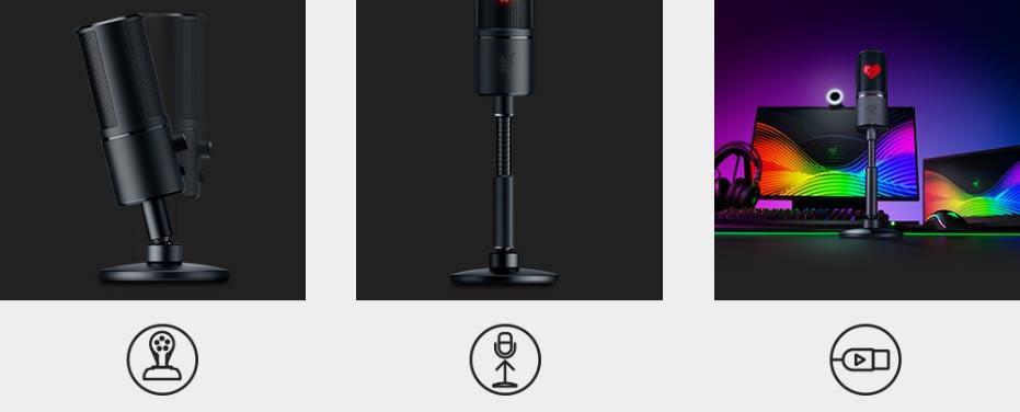 El nuevo micrófono de Razer tiene un sistema anti-golpes