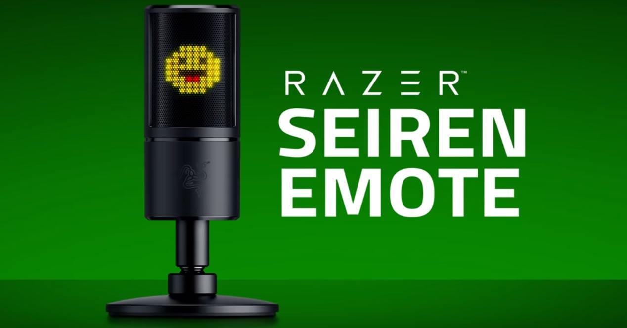 Razer Seiren Emote, el nuevo micrófono para streaming con reacciones en vivo