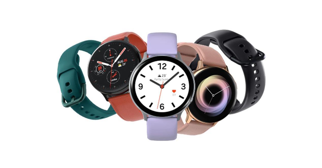 Samsung Galaxy Watch Active 2 en diferentes acabados
