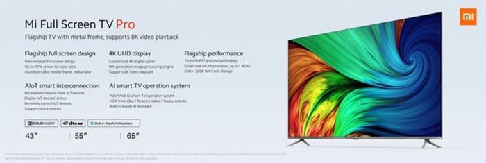 Especificaciones nuevas SmartTV Xiaomi