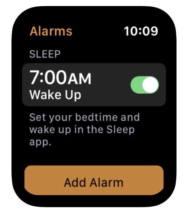 Referencia sueño en aplicación Apple Watch