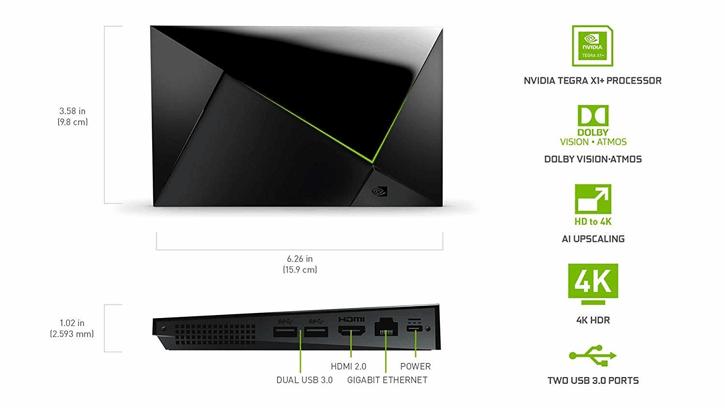 Nvidia Shield TV Pro características