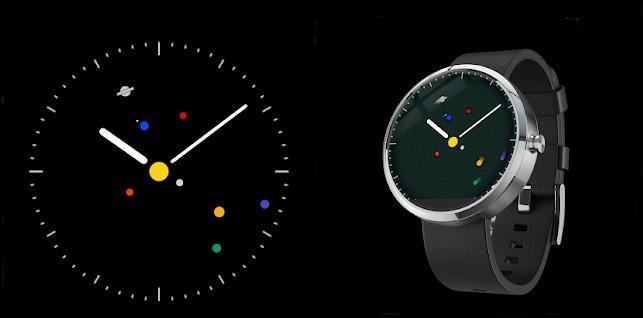 Esfera Wear OS Planets Watchface