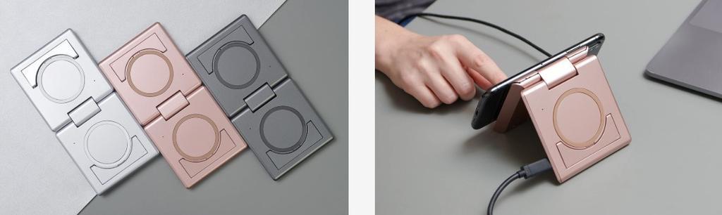 Colores y uso del cargador inalámbrico Unravel Two
