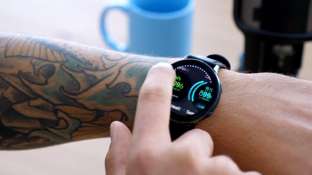 Uso de la pantalla del Samsung Galaxy Watch Active