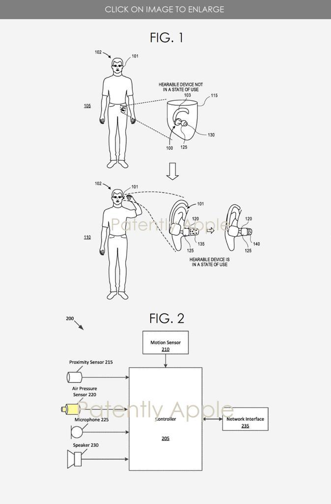 patente de Apple para Apple AirPods