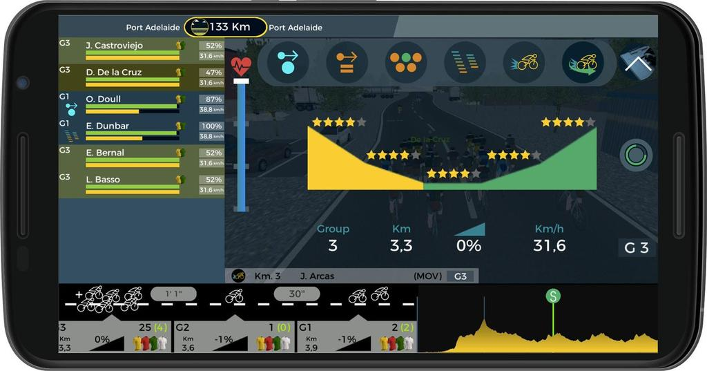 Juego Android Live Cycling Manager 2