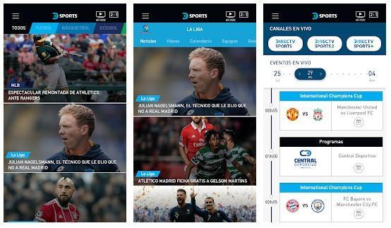 Aplicación DIRECTV Sports