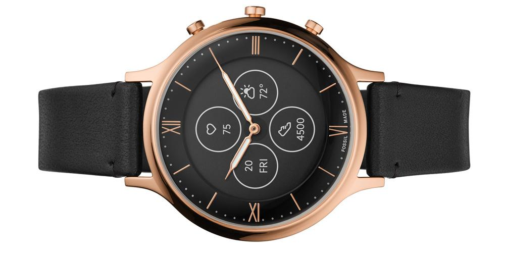 Smartwatch Fossil Hybrid HR de color dorado