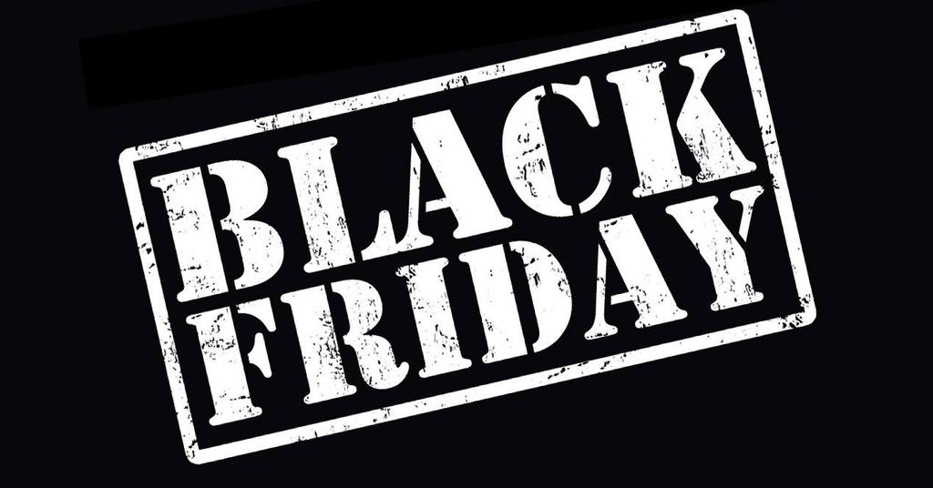 Logotipo de Black Friday fondo negro