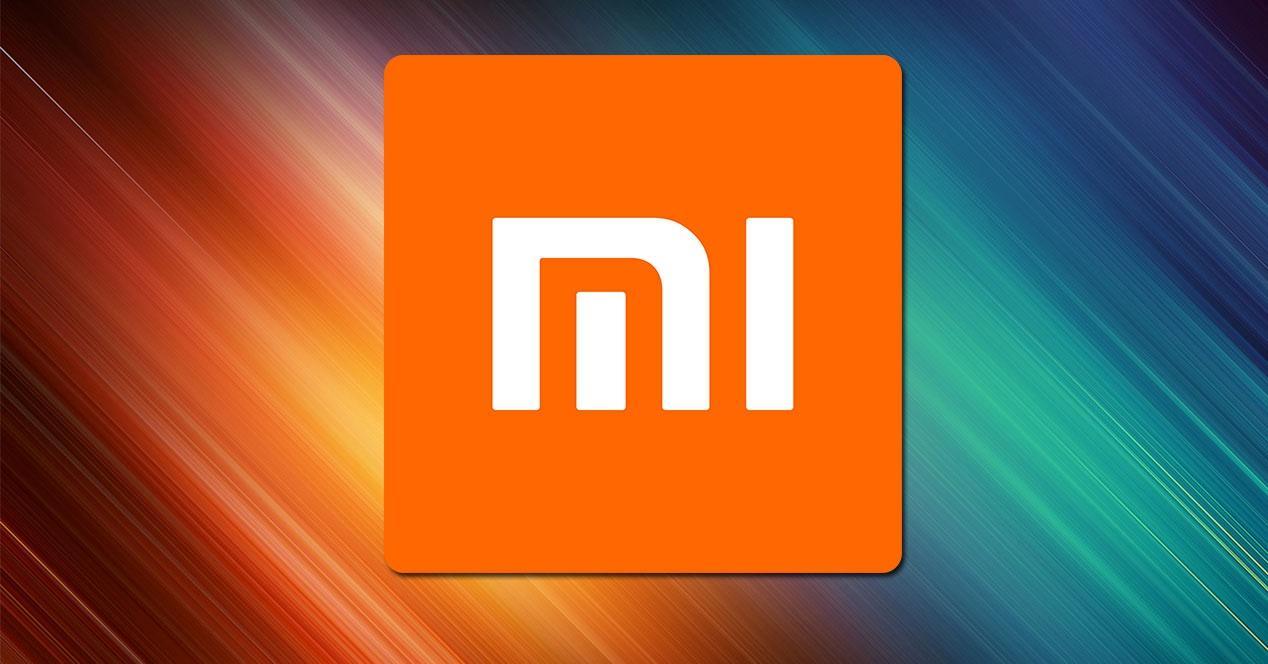 Logotipo de Xiaomi con fondo colores