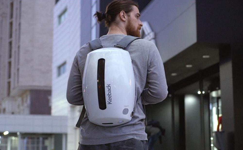Uso de la mochila digital Keeback