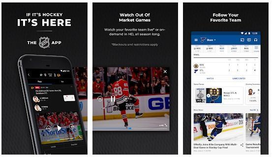 Aplicación NHL