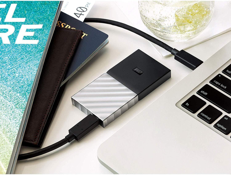uso del disco externo WD My Passport SSD