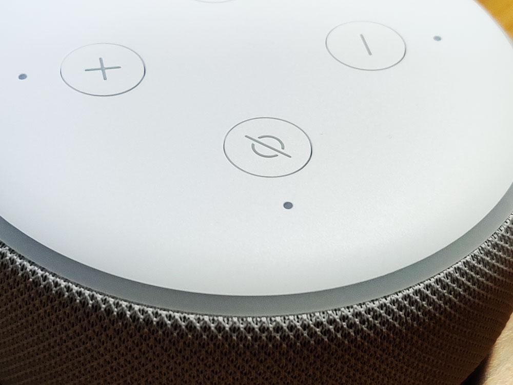 Botones del altavoz Amazon Echo Dot