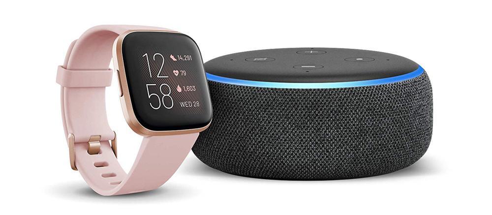 Fitbit Versa 2 con Amazon Echo Dot
