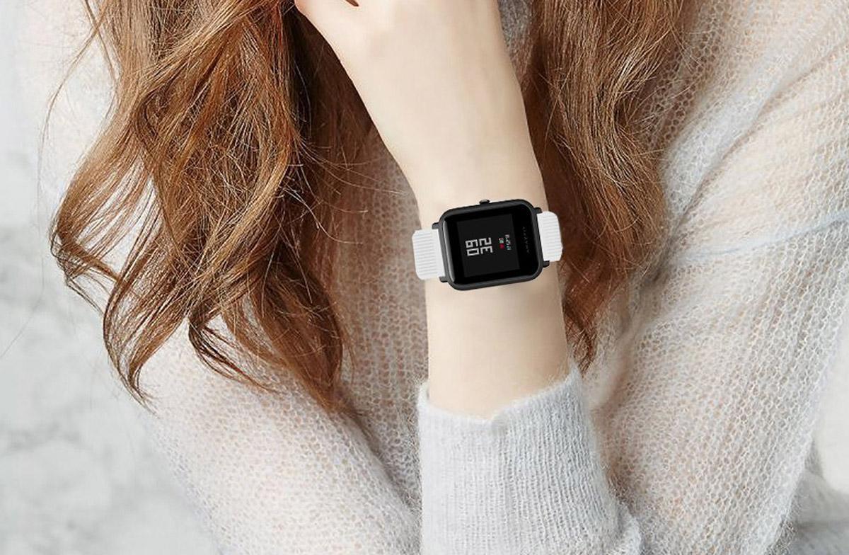 Smartwatch Xiaomi Amazfit Bip Lite en muñeca